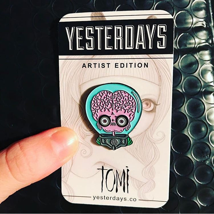 Martian Enamel Pin By Tomi Monstre - Spoke Art