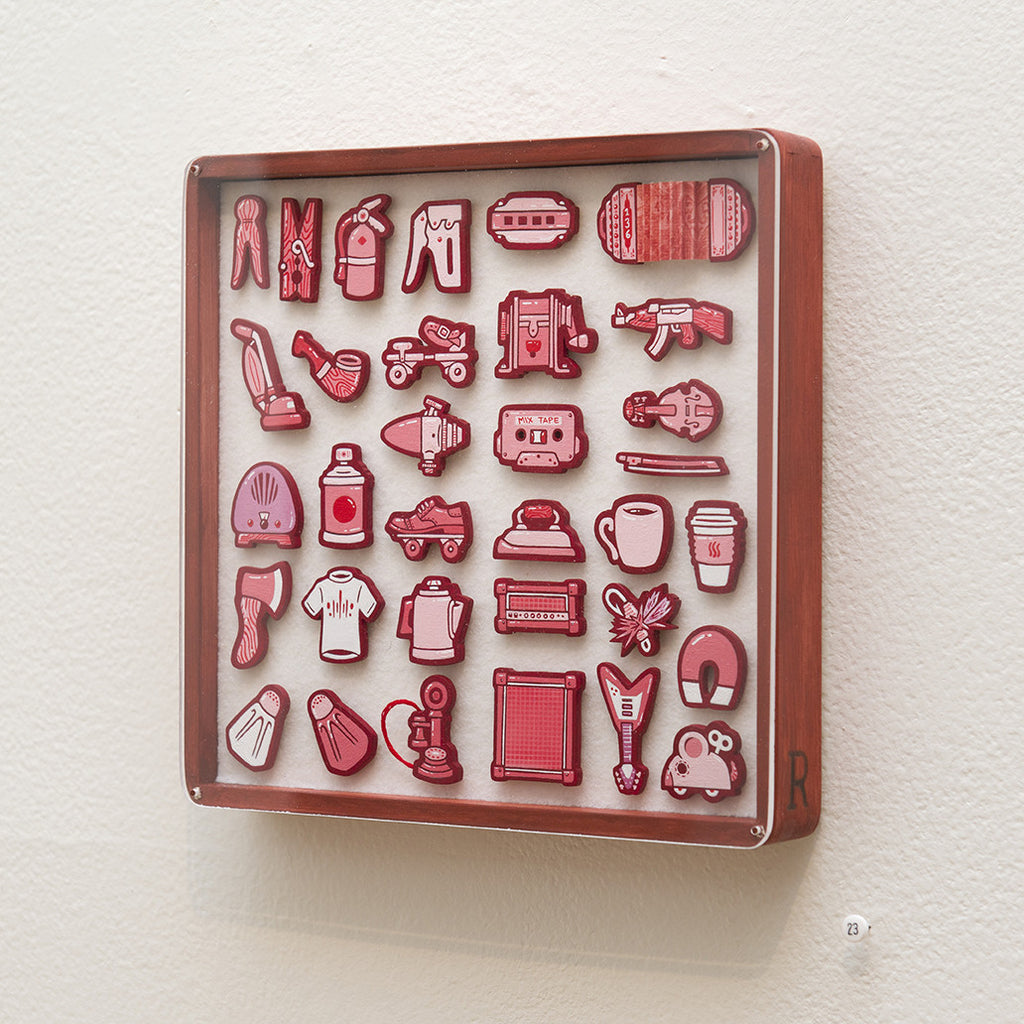 """Tiny Objects"" (Red)"