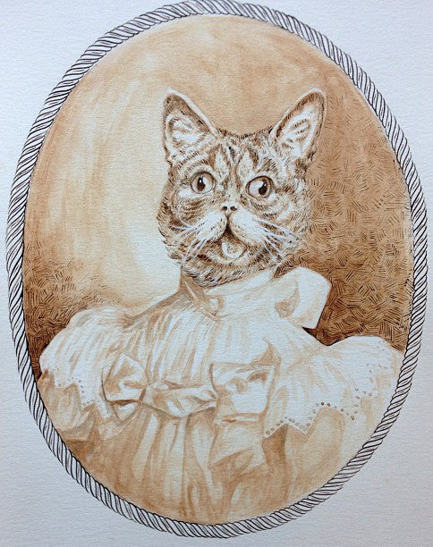 "Zach Landrum - ""Victorian Lil Bub"" - Spoke Art"