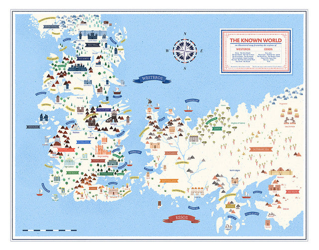 graphic relating to Free Printable Map of Westeros identified as Maria Suarez Inclan - \