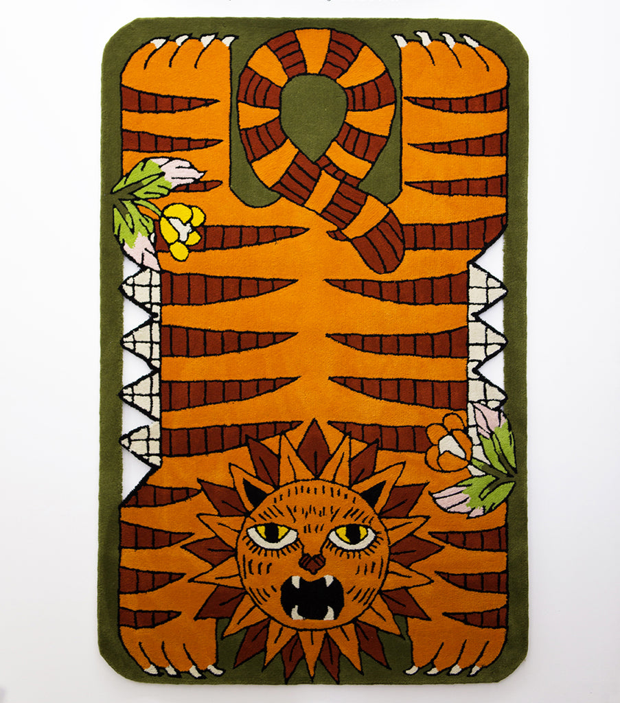 "Jayde Fish - ""Angry Lion Rug"""