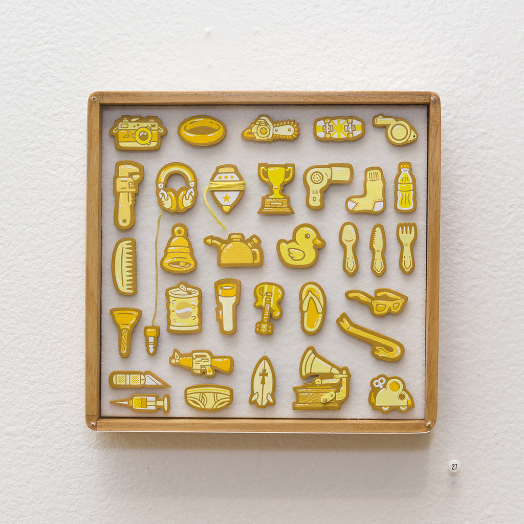 """Tiny Objects"" (Yellow) - Spoke Art"
