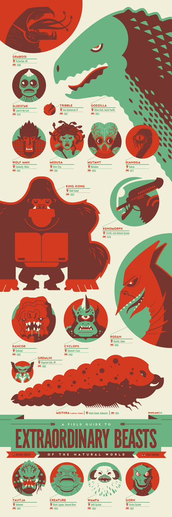 "Tom Whalen - ""Field Guide to Extraordinary Beasts of the Natural World"" - Spoke Art"