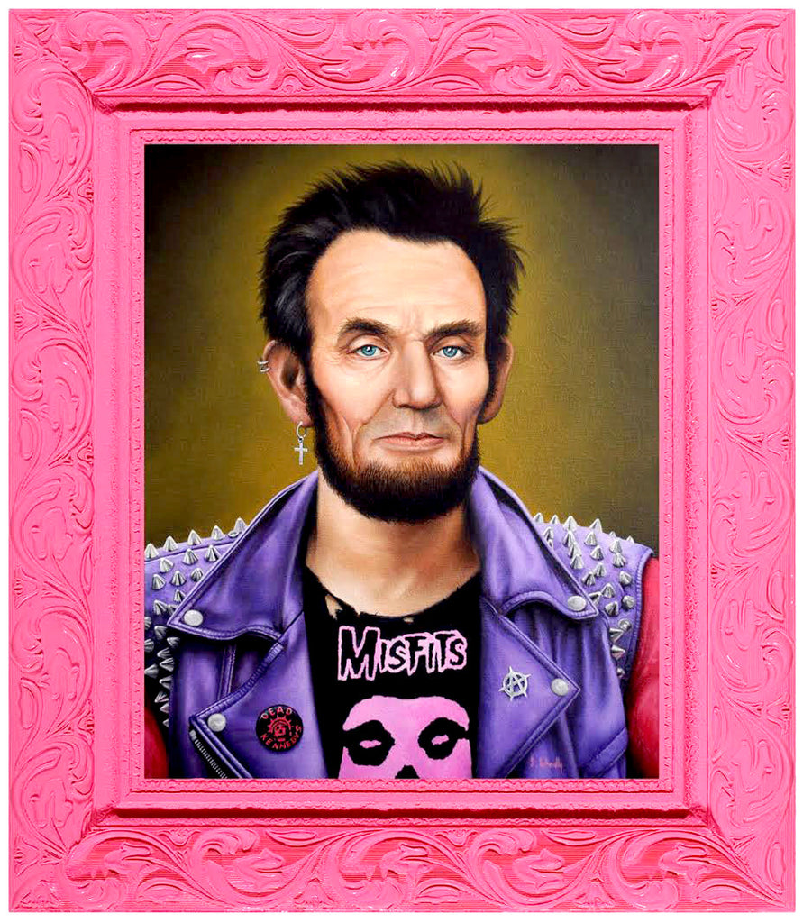 """Punk Rock Lincoln"" - Spoke Art"