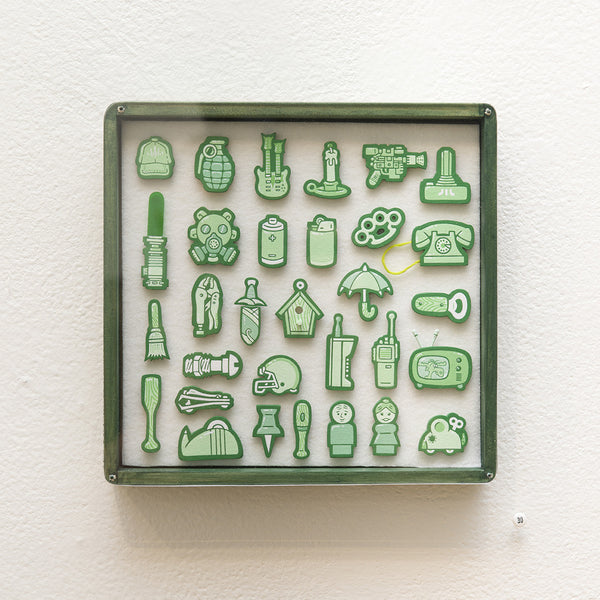 """Tiny Objects"" (Green)"