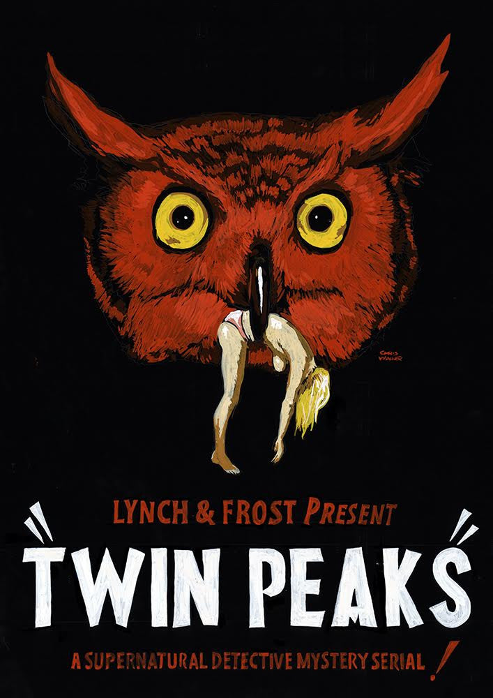 "Chris Walker - ""Twin Peaks 'Red Owl' Advertising Poster"""