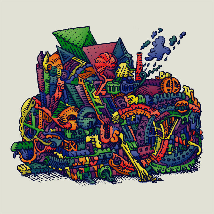 "David Welker - ""Recycle Bin"" print - Spoke Art"