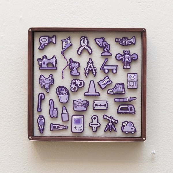 """Tiny Objects"" (Violet)"