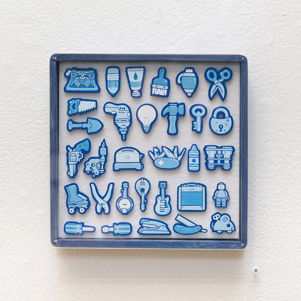 """Tiny Objects"" (Blue)"