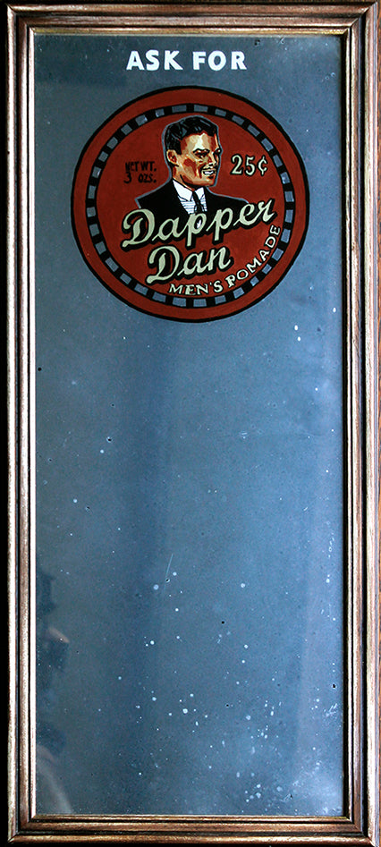 "Chris Walker - ""1930s 'Dapper Dan' Advertising Mirror"" - Spoke Art"