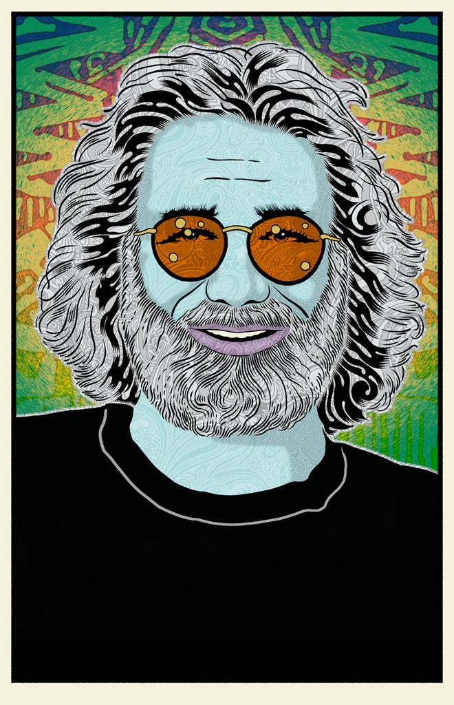 "Chuck Sperry - ""Jerry Garcia (Winter)"""
