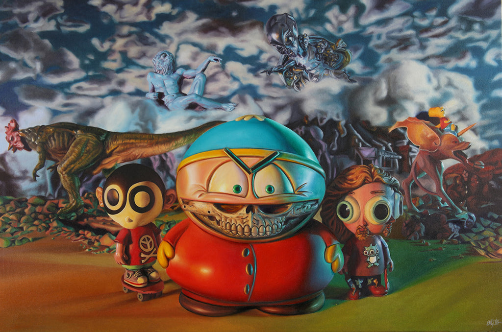 "Ron English - ""Cartman's Cartoon Realism"""