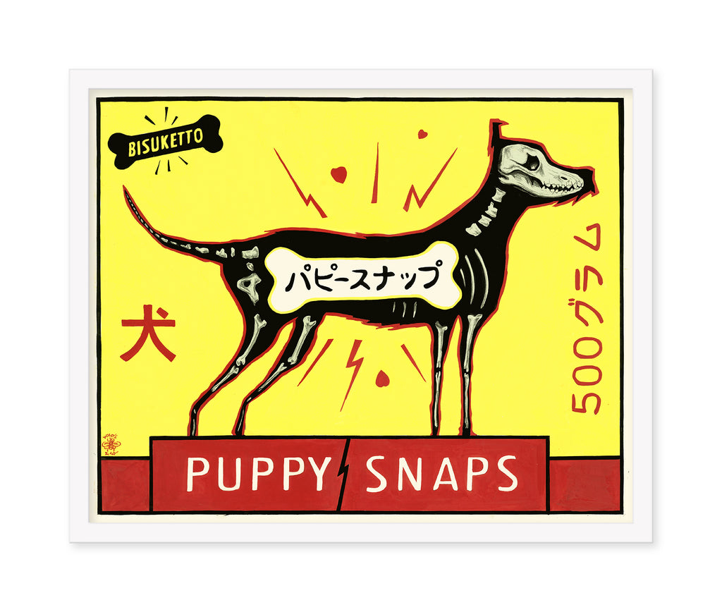 "Chris Walker - ""Puppy Snaps"" Advertising Poster"