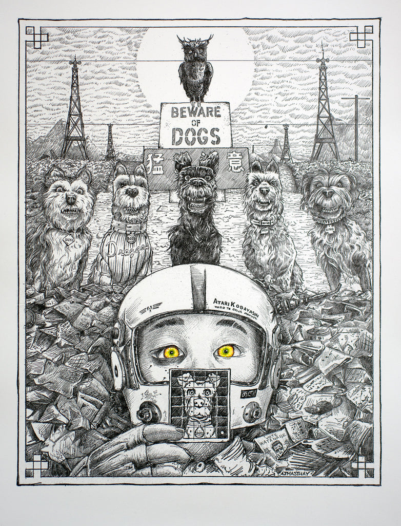 "AJ Masthay - ""Beware of Dogs"" - Spoke Art"