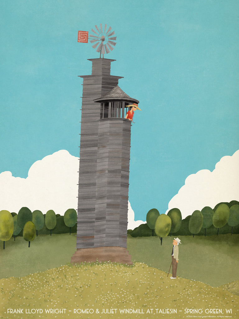 "Max Dalton - ""Taliesin Romeo & Juliet Windmill"" - Spoke Art"