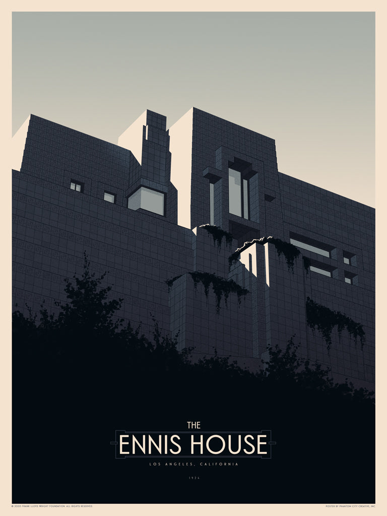 "Phantom City Creative  - ""Ennis House"" - Spoke Art"
