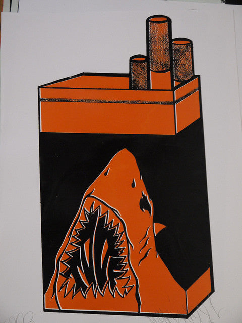 Shark Toof - Orange Pack Print
