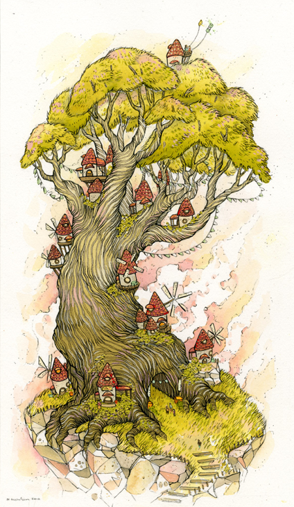 "Nicole Gustafsson - ""Windy Treetop"" - Spoke Art"
