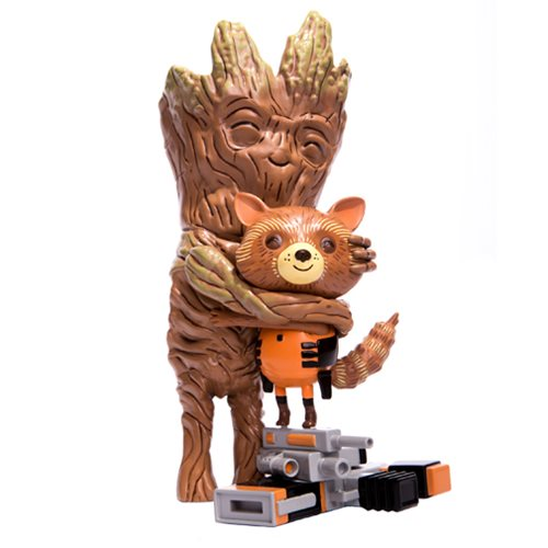 "Mike Mitchell - ""Guardians of the Galaxy"" Rocket and Groot Treehugger Vinyl Figure - Spoke Art"