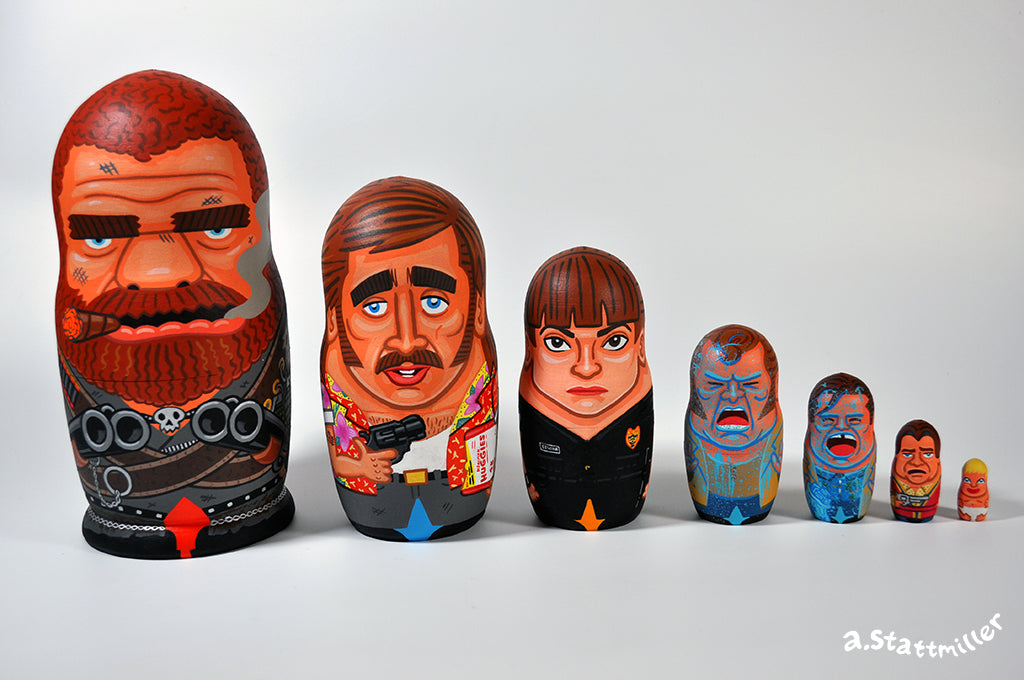 "Andy Stattmiller - ""Raising Arizona Nesting Dolls"" - Spoke Art"