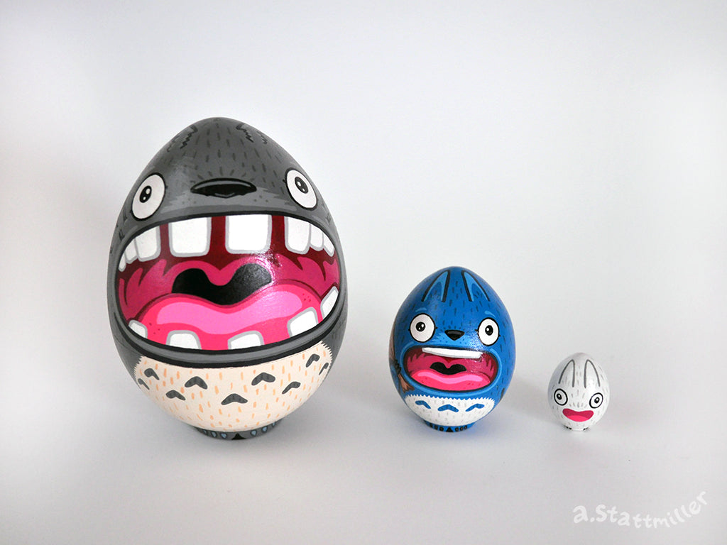 "Andy Stattmiller - ""Totoro Nesting Eggs"" - Spoke Art"