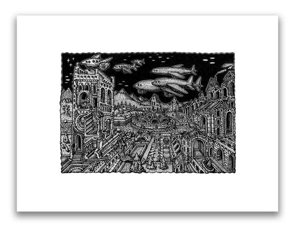 "David Welker - ""The Aqueduct"" (print) - Spoke Art"