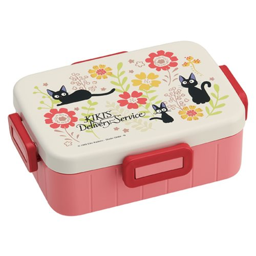 """Kiki's Delivery Service"" Traditional Jiji and Flower Bento Box with Divider - Spoke Art"