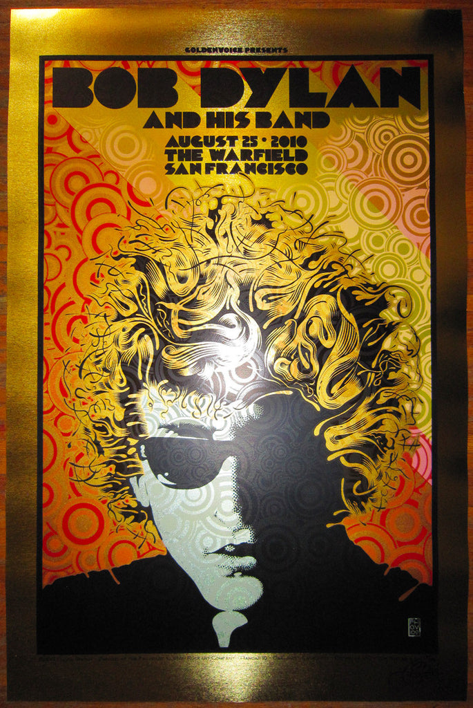 Chuck Sperry - Bob Dylan and His Band at The Warfield (Brushed Gold Foil)