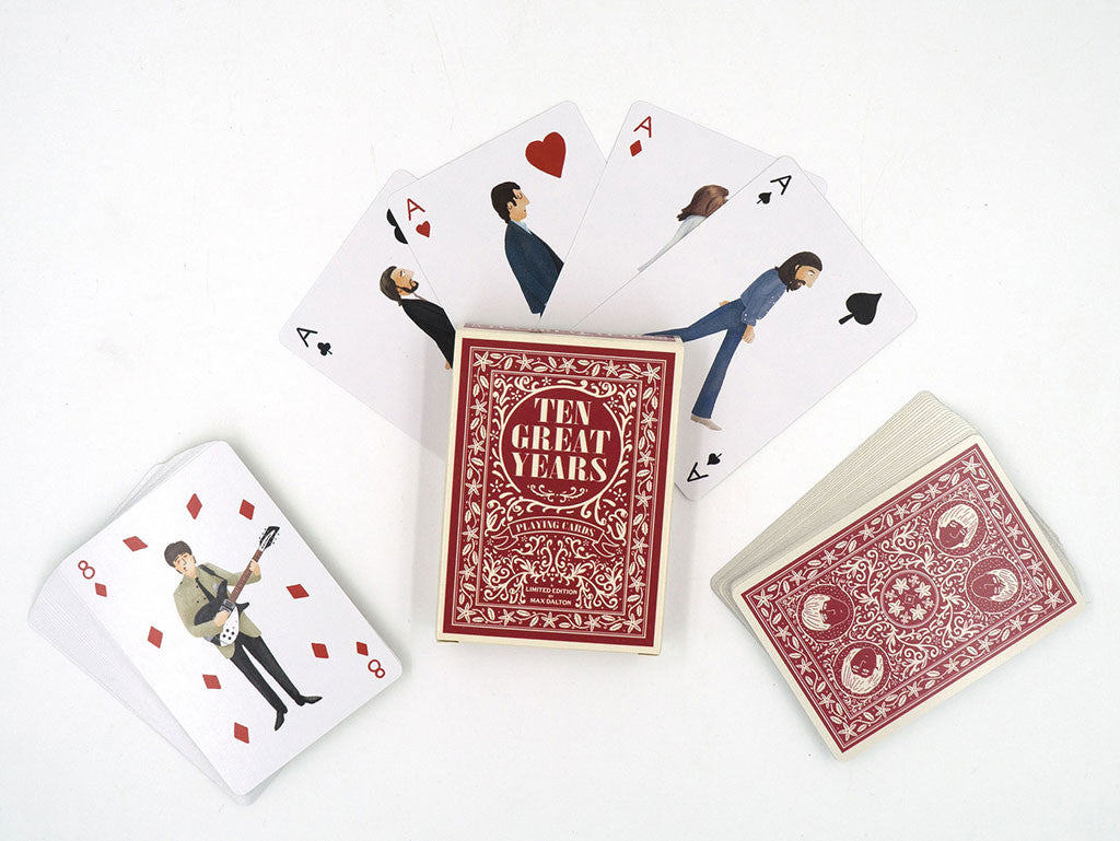 "Max Dalton - ""The Beatles Ten Great Years Playing Cards"""