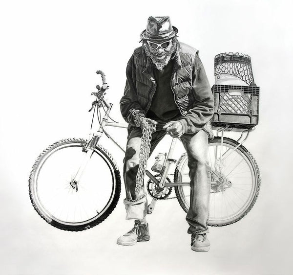 "Joel Daniel Phillips - ""Blue with a Bicycle"""