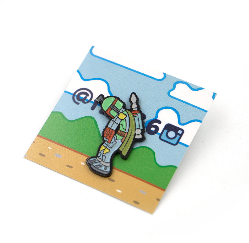 Boba Slump Pin - Spoke Art