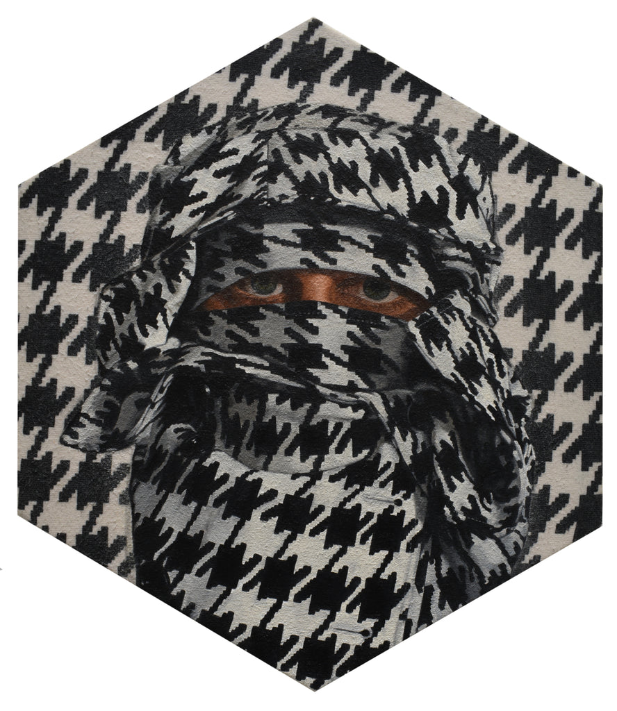 "Peter Adamyan - ""Camouflage Houndstooth"" - Spoke Art"