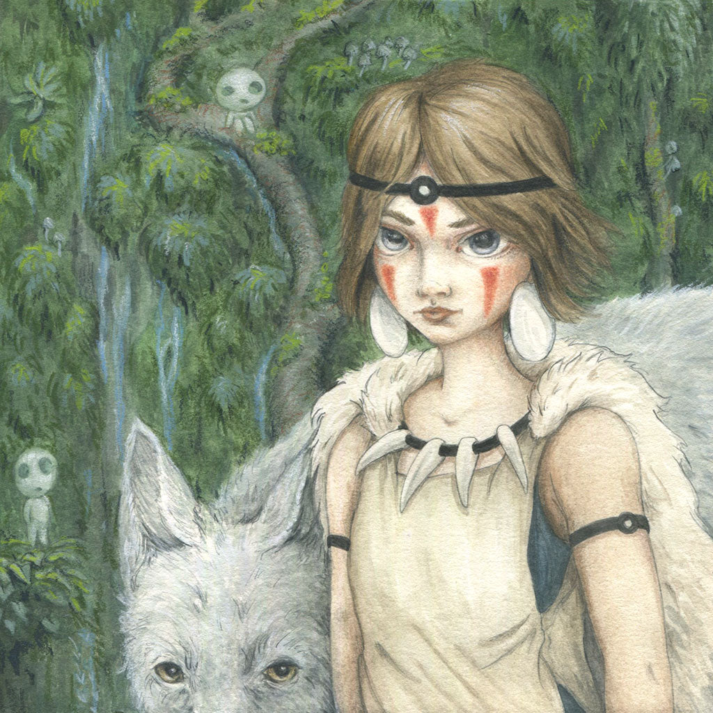 "Candace Jean - ""San, The Princess Mononoke"" - Spoke Art"