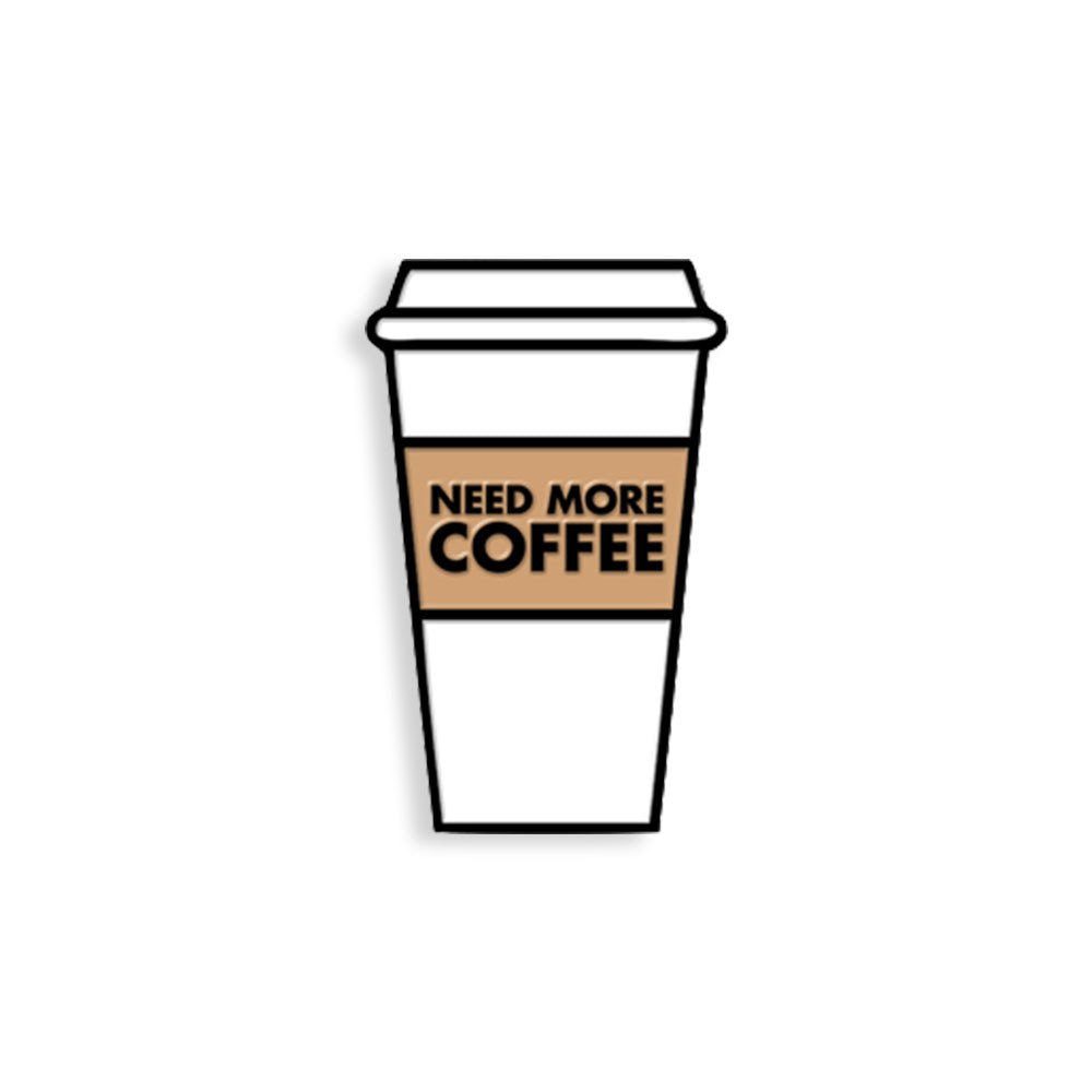 Coffee Addict Enamel Pin - Spoke Art