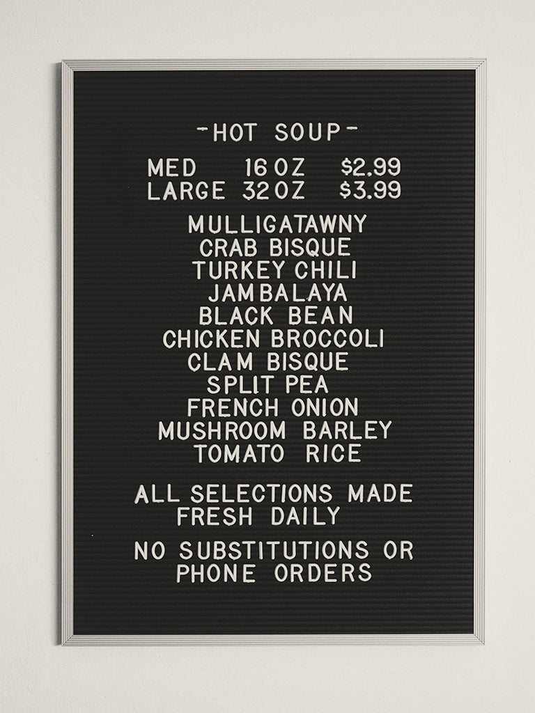 "Concepción Studios - ""Soup Menu"" - Spoke Art"