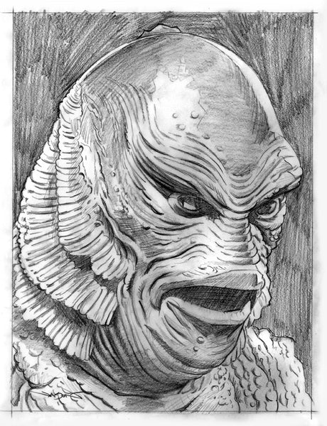 "Jason Edmiston - ""The Creature From The Black Lagoon"" preliminary"