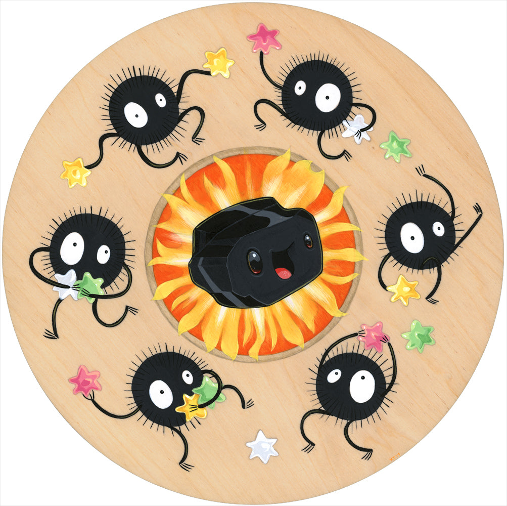"Cuddly Rigor Mortis - ""Susuwatari"" (print) - Spoke Art"
