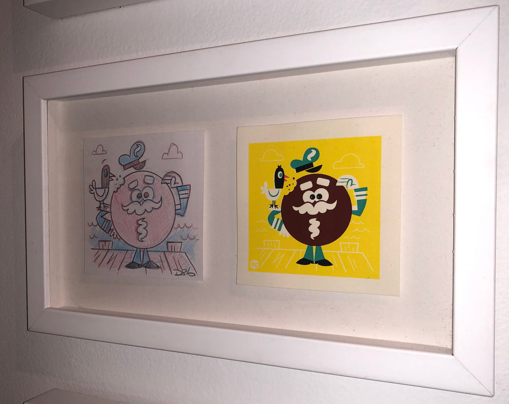 "Dave Perillo - ""Captain Cupcake Original Sketch & Print"""