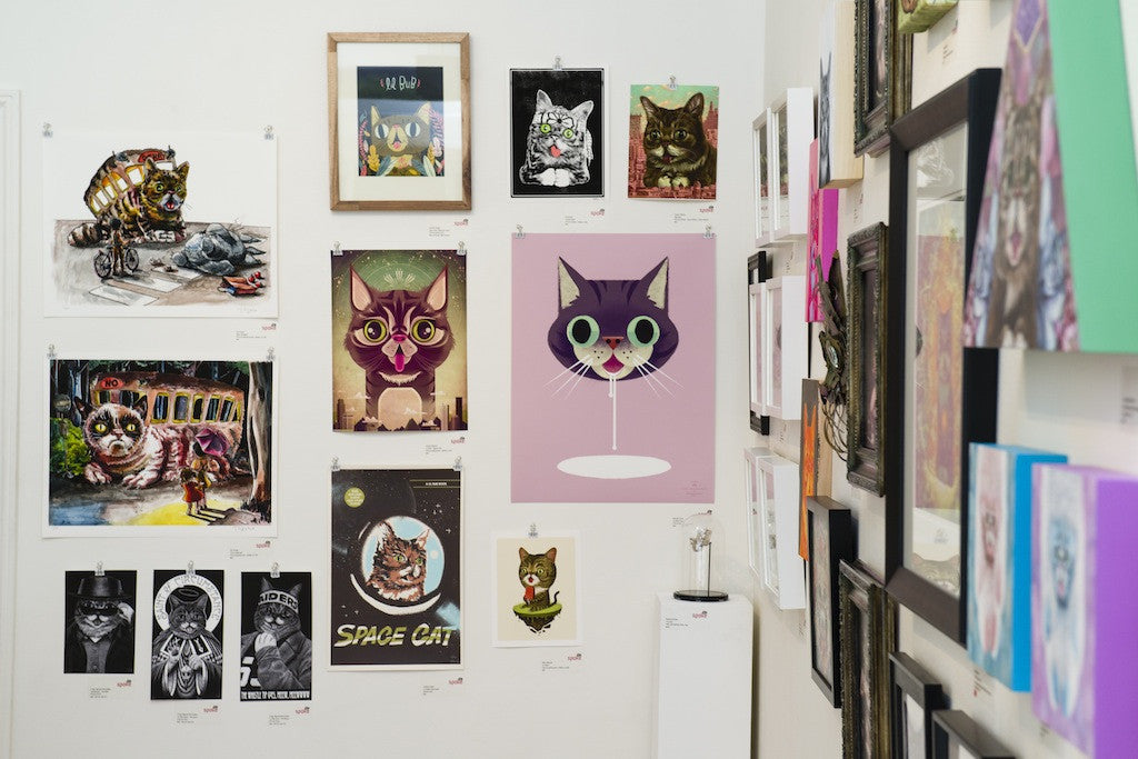 "Stanley Chow - ""Lil Bub loves mmmmmilk"" - Spoke Art"