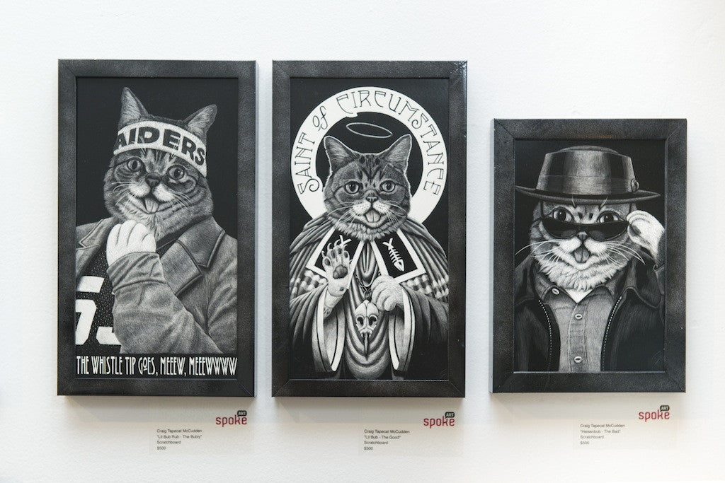 "Craig Tapecat McCudden - ""Lil Bub Rub - The Bubly"" - Spoke Art"