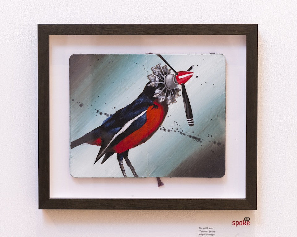 "Robert Bowen - ""Crimson Shrike"" - Spoke Art"