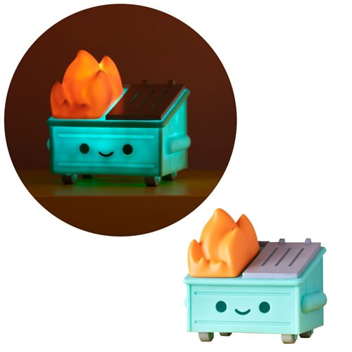 100% Soft - Dumpster Fire Light-Up Vinyl Figure - Spoke Art