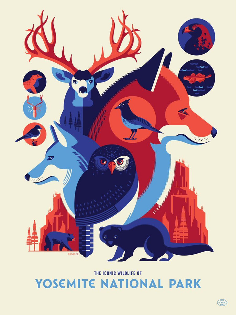 "Tom Whalen - ""Iconic Wildlife of Yosemite National Park"" - Spoke Art"