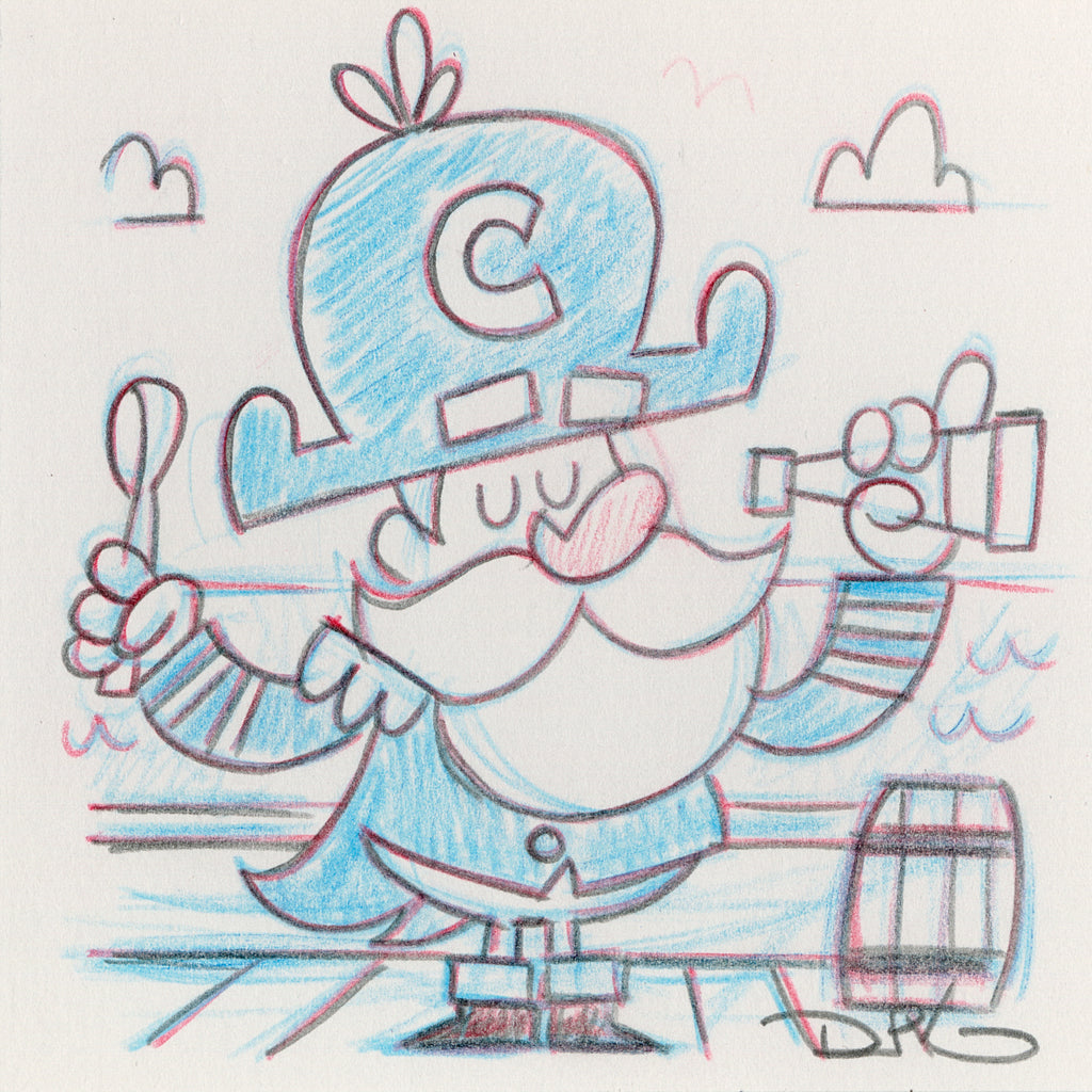 "Dave Perillo - ""Captain Crunch Original Sketch & Print"""