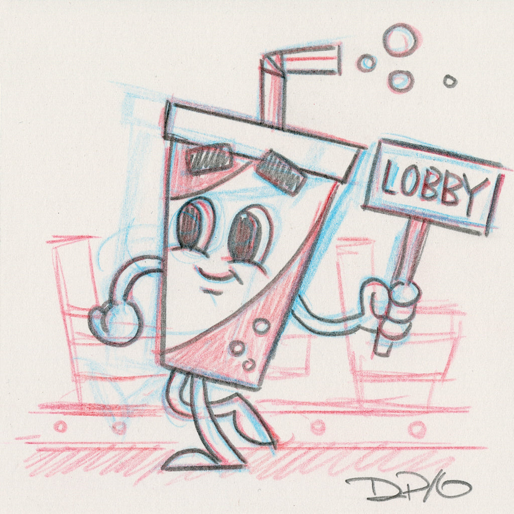 "Dave Perillo - ""Soda Pop Original Sketch & Print"""
