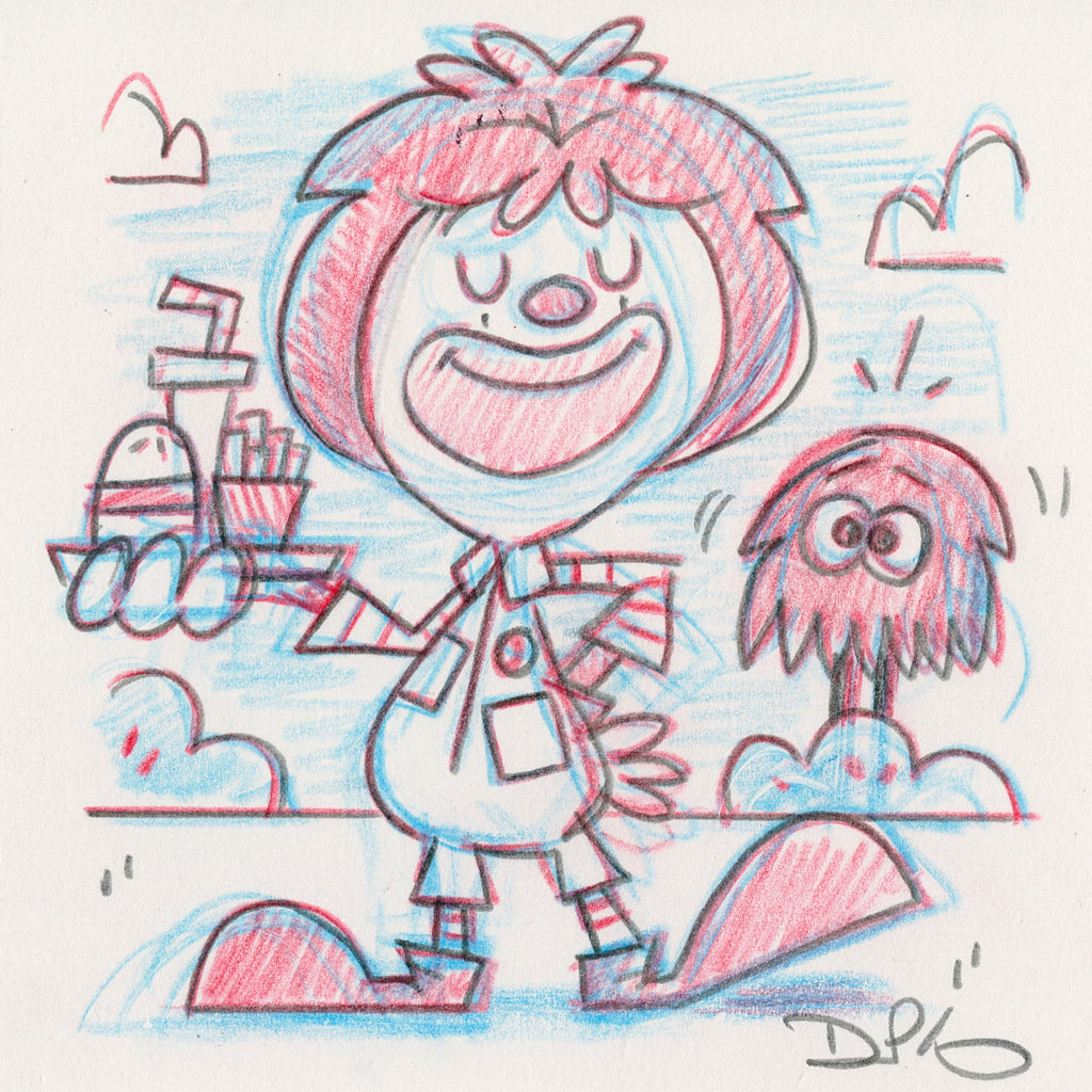 "Dave Perillo - ""Ronald Original Sketch & Print"""