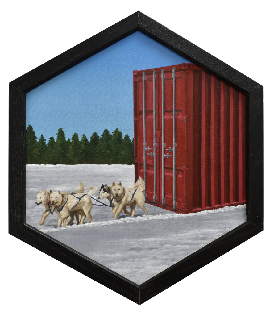 "Peter Adamyan - ""Dog Sled Cargo Delivery"" - Spoke Art"