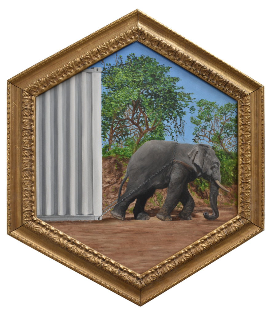 "Peter Adamyan - ""Elephant Dragged Cargo Delivery"" - Spoke Art"