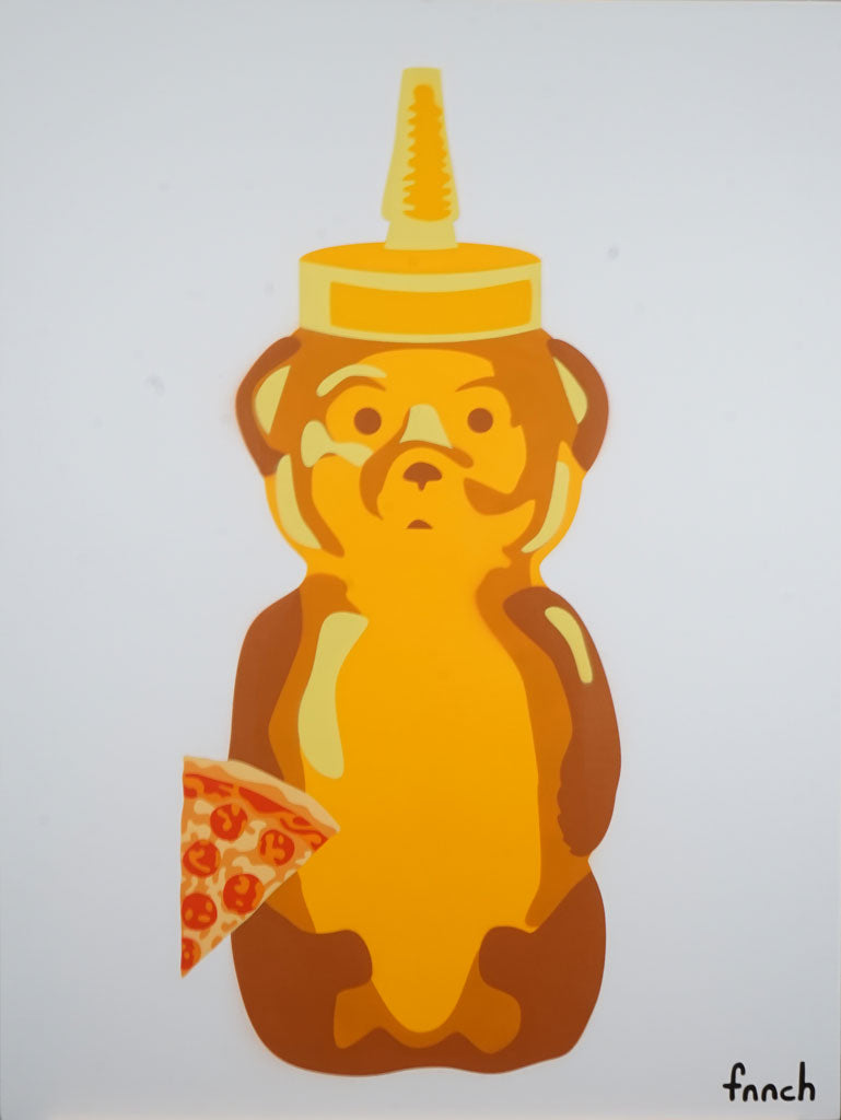 "fnnch - ""Large Pizza Bear"" - Spoke Art"