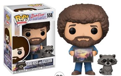 "Funko POP! ""Bob Ross with Raccoon"" Vinyl Figure - Spoke Art"